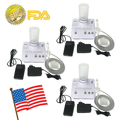 3* Dental Ultrasonic Piezo Scaler Handpiece Tips Bottles for EMS WOODPECKER #3TL