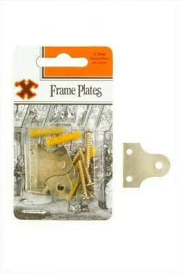 Frank Shaw X Hooks Pictures Hooks Brassed Plated Glass / Frame Plates 31mm 4/PK