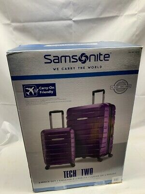 "Samsonite TECH TWO 2-Piece Hardside Luggage Set, PURPLE (27"" and 20"" (U10008185)"