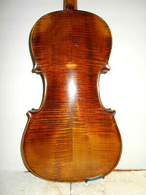 """Antique Vintage Old  """"Stainer"""" 2 Pc Curly Maple Back Full Size Violin - NR"""