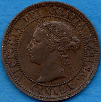 Canada 1888 1 Cent One Large Cent Coin - EF+