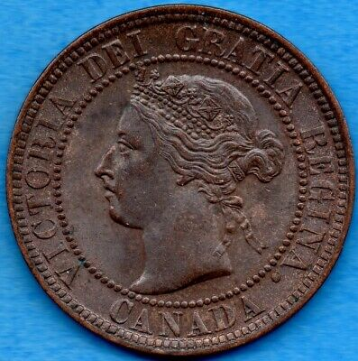 Canada 1901 1 Cent One Large Cent Coin - Uncirculated