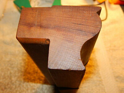 Unfinished moulding wood plane, wide ogee cut, no wedge or iron