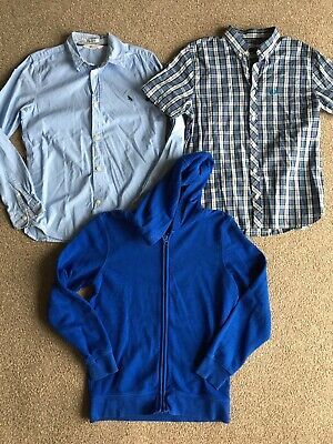 FRED PERRY H&M & GEORGE Boys Bundle Of Shirts & A Hoodie Age 11-12 Years