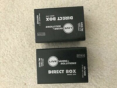 Pair of Live Wire Solutions Passive Direct Box - Model SPDI