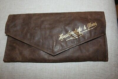 Vintage soft leather Handkerchief and Glove Pouch