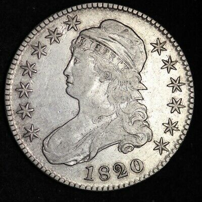 1820 Capped Bust Half Dollar CHOICE VF FREE SHIPPING E339 XCEX