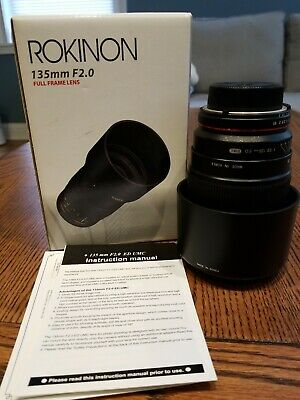 Used Rokinon 135mm f/2.0 ED UMC Lens for Nikon F Mount with AE Chip (#E316L2569)