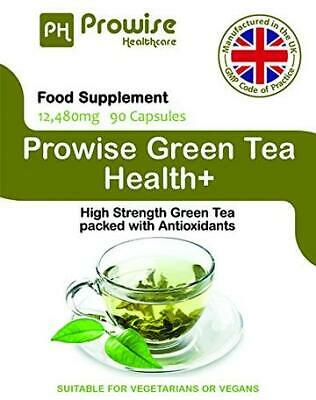 Green Tea Health+ 90 Cap 12,480mg by Prowise Healthcare