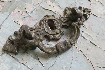 6 Old Vintage Antique CAST BRONZE Ornate Pull Handle not iron or brass