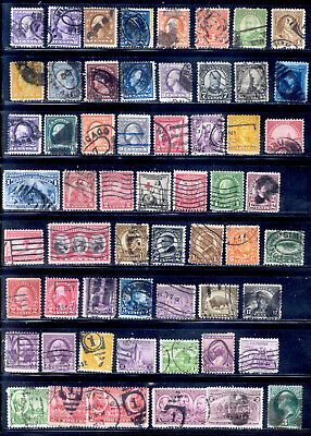 Old 58 Stamps US Lot Interesting Cancels Used