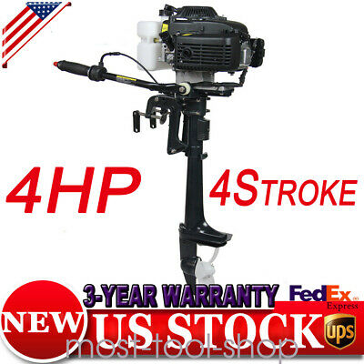 Brand New 4HP 4Stroke Outboard Motor Engine Fishing Boat Air Cooling System CHA-