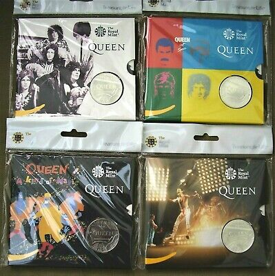 2020 Royal Mint Music Band Legend:-QUEEN set of 4 x £5 uncirculated coin packs