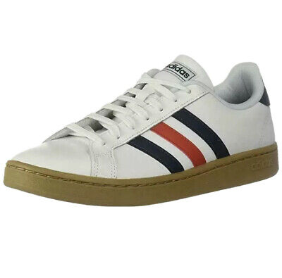 * New ADIDAS MENS 11 Grand Court White Red Blue EE7888 Tennis Shoes SNEAKERS