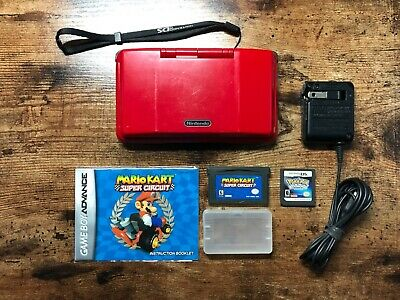 Original Nintendo DS NTR-001 Console Red Tested - Pokemon & GameBoy Mario Kart!
