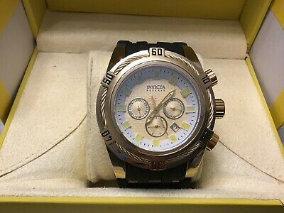 INVICTA RESERVE 9722 GOLD PLATED DATE SWISS MOVEMENT BRAND NEW 52mm