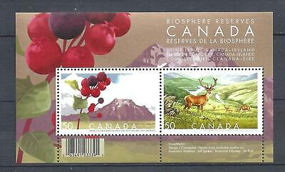 CANADA BIOSPHERE RESERVES SOUVENIR SHEET SCOTT 2106b VF MINT NH (BS14160-1)