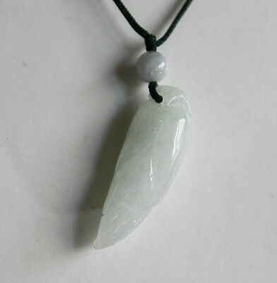 Gemstone Natural Grade A Light Green Jadeite JADE (Small Corn) Pendent #P682