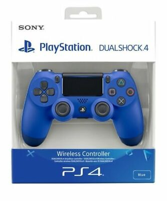 Official Sony Ps4 Dualshock 4 Wireless Controller V2 Wave Blue Boxed