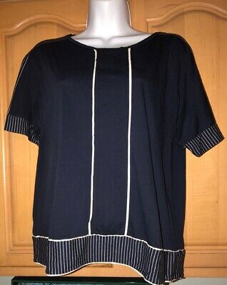 Gently Used J CREW Women's Navy Top, Size Medium