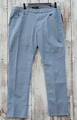 US POLO ASSN Men's 38/30 38/32 Light Blue NEW Chinos Slim Straight Stretch Pants