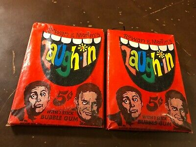Lot Of (2) 1968 Topps Non-Sports Laugh In Unopened Wax Packs   *Rare*