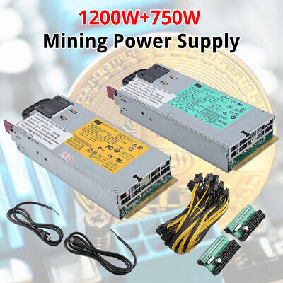 750W Power Supply PSU 6PCI-E 16AWG 94/% Platinum Kit for Antminer S3 S1 S5 BEST