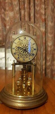 Antique clock glass dome Kundo made in Germany