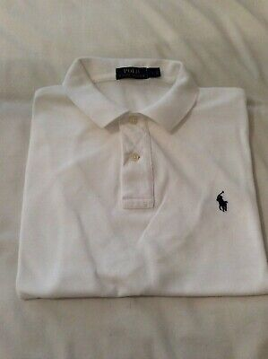 Mens Ralph Lauren RL.polo shirt size Large immaculate condition white