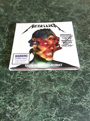 "Metallica Hardwired To Self-Destruct 2 x CD"" Set Foldout Digipak Hype Sticker"