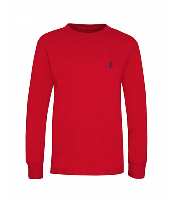 POLO RALPH LAUREN Junior Red T-Shirt, Long Sleeved Top, Age 14-16 Years, BNWT!