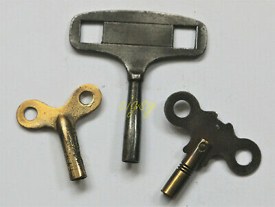 Three vintage CLOCK KEYS - for approx. 4mm shaft.