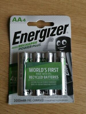 Energizer AA Rechargeable Batteries Power Plus PreCharged 1300mAh 1.2V NiMh ACCU