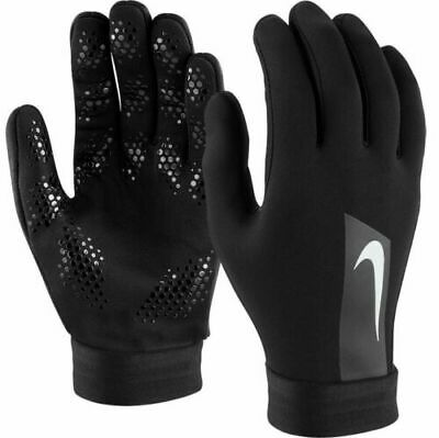 Nike Academy Hyperwarm Field Player MensTraining Football Gloves Black S T262-9