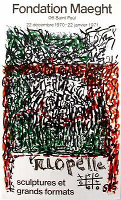 "Riopelle -Poster for Art exhibition at the ""Maeght Foundation"" in 1970 – RARE"