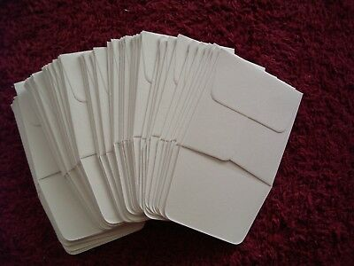 100  White Paper Coin Envelopes with Flaps Acid Free 2 X 2 approx size.