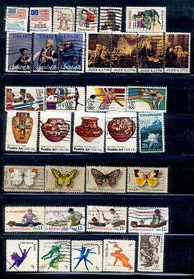 13 Cent 65 Stamps Lot 1975-1978 Used