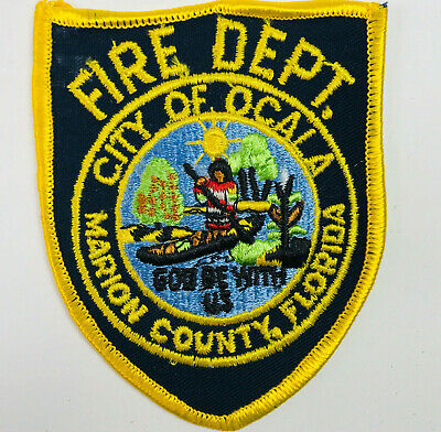 """Hernando County  Fire Florida 3.75/"""" round size Rescue fire patch"""