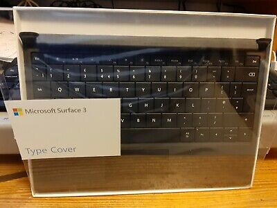OFFICIAL MICROSOFT SURFACE 3 TYPE COVER BLACK BRAND NEW UK QWERTY A7Z-00011