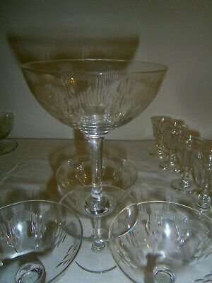 Baccarat 6 Coupes A Champagne Modele Moliere