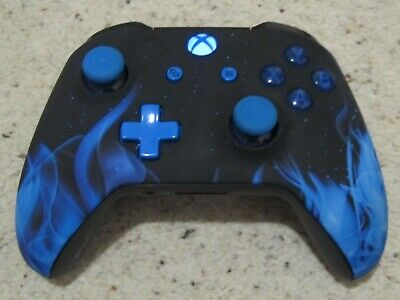 Official Microsoft Xbox One S 1708 Blue Flame Custom Wireless Controller
