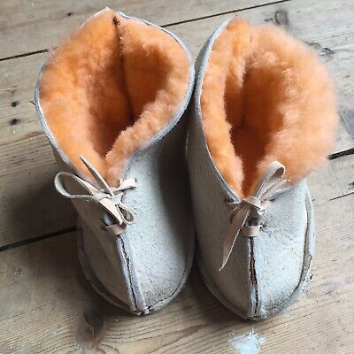 Baby Sheepskin Boots Vintage Style 6-12 Months