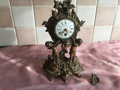 Antique mantle clock made in Paris