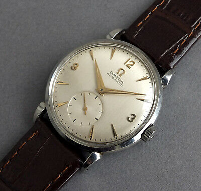 OMEGA Stainless Steel Gents Automatic Bumper Watch 1954