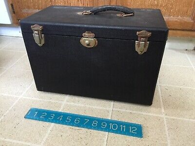 """Bausch And Lomb Vintage Antique Microscope Box Case 14"""" Wide x 8"""" x 9.75"""" Tall"""