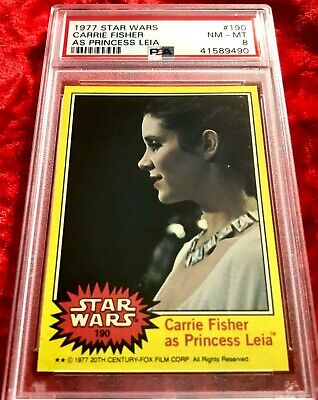 1977 Star Wars #190 Carrie Fisher As Princess Leia Psa 8!