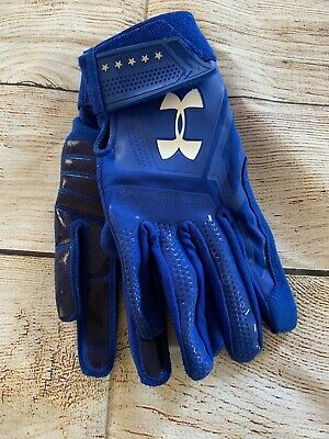 Under Armour Heater Batting Gloves Baseball  Blue Kids Medium Youth M NEW