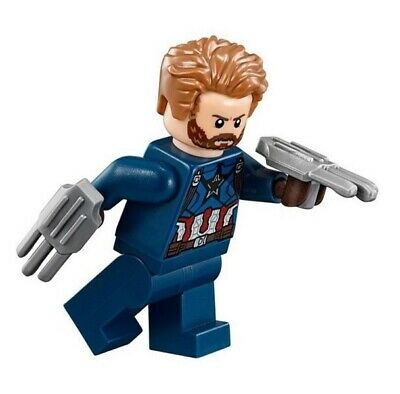 Genuine Lego Minifigure Super Heroes - sh495 Captain America, Beard