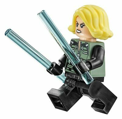 Genuine Lego Minifigure Super Heroes - sh494 Black Widow with Weapons