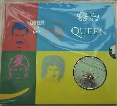 2020 Royal Mint Music Band Legend:-QUEEN HOT SPACE £5 uncirculated coin pack